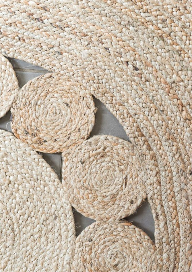 Jute Flatweave Flower Round Rug home Pinterest Round rugs