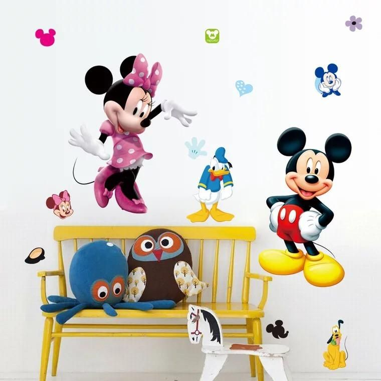 50 Minnie Mouse stickers Nursery Decal for DIY kids play room wall decor bedroom