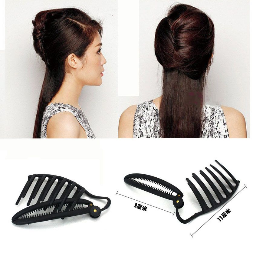 11CM Women DIY Formal Hair Styling Updo Bun Comb And Clip Tool Set ...