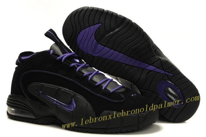 Nike Air Max Penny Retro Black Purple - Penny Hardaway Shoes ... b72511e59