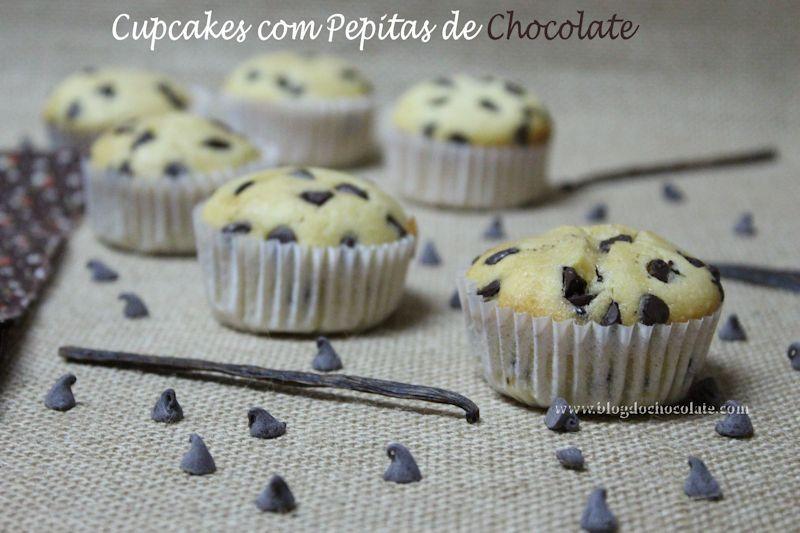 Cupcakes com Pepitas de Chocolate / Cupcakes with Chocolate Chips