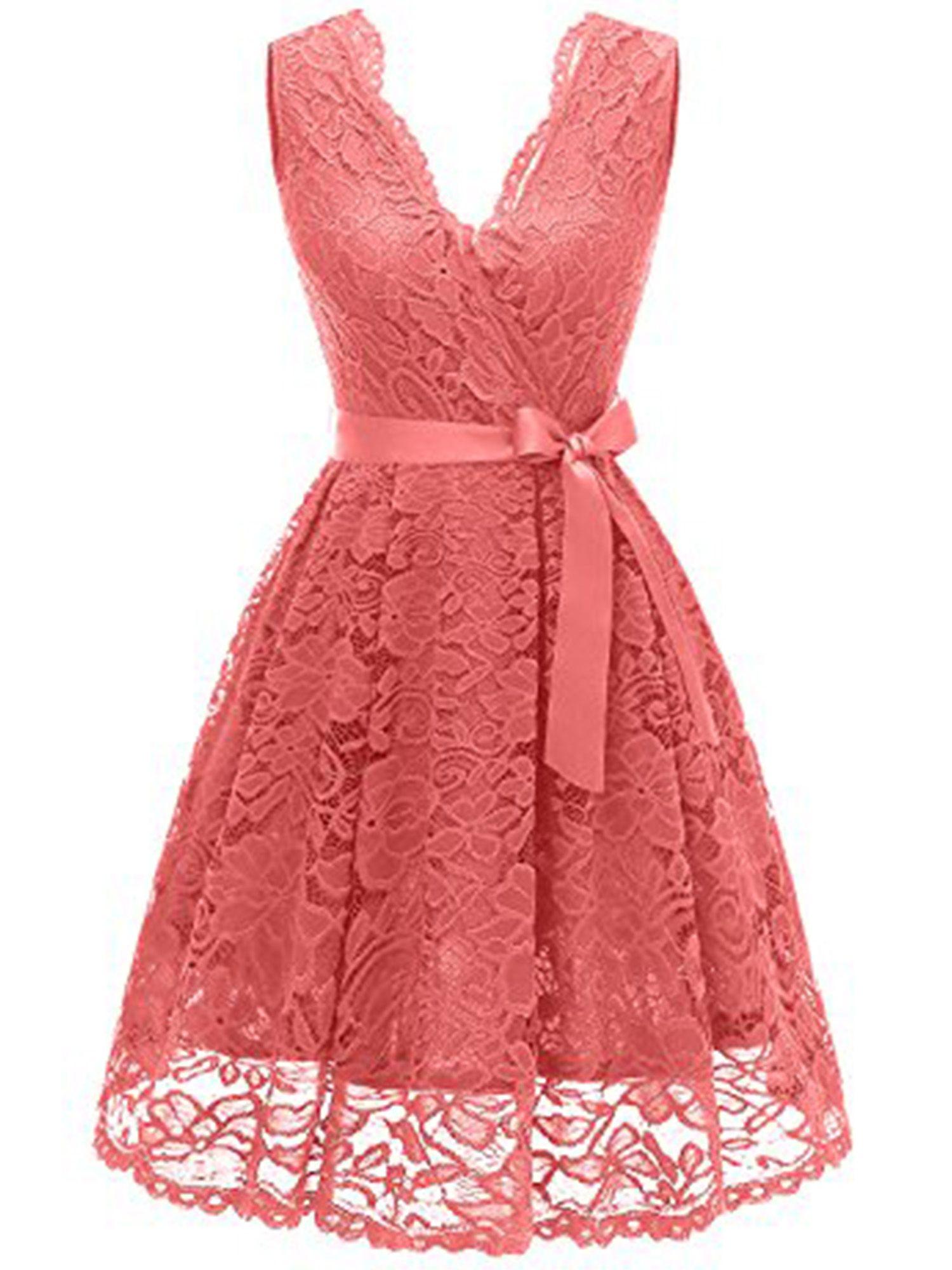 RED Dresses BRAND NEW Lace Sleeveless Midi Vintage Dresses