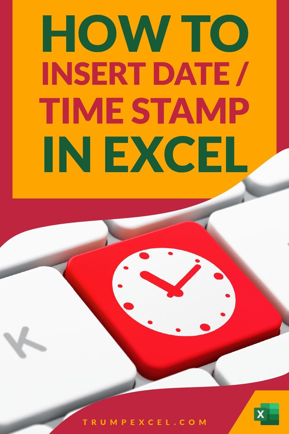 How to Quickly Insert Date and Timestamp in Excel