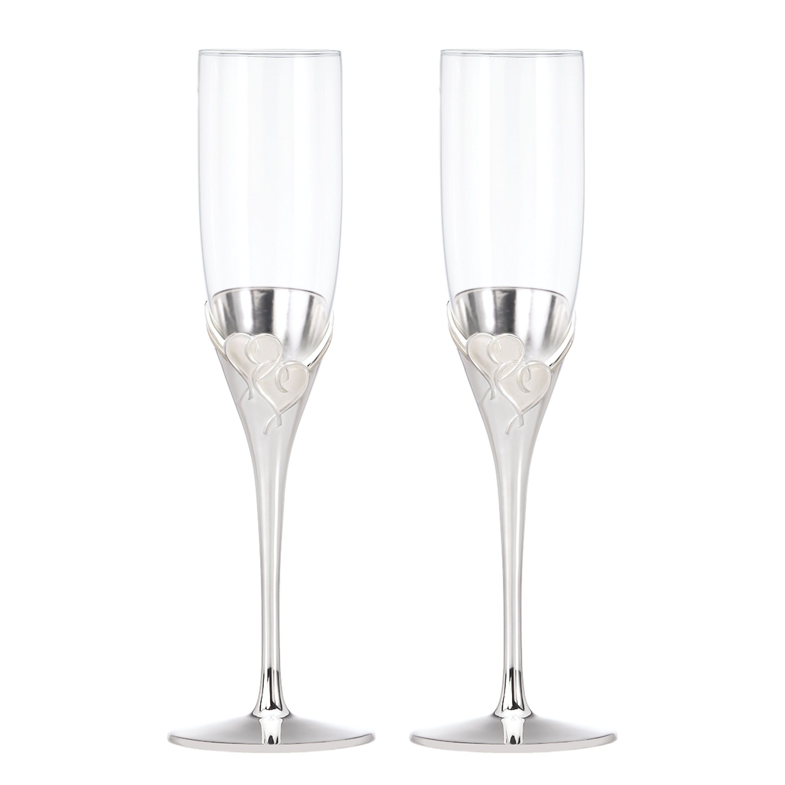 Amazon.com: Lenox True Love Crystal Flute Pair: Champagne Flutes ...