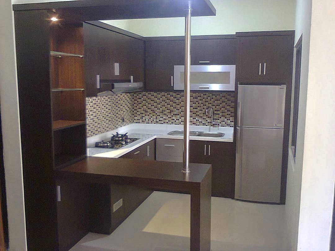 Desain Mini Bar Gambar Model Kitchen Set Mini Keren Dapur Minimalis Idaman