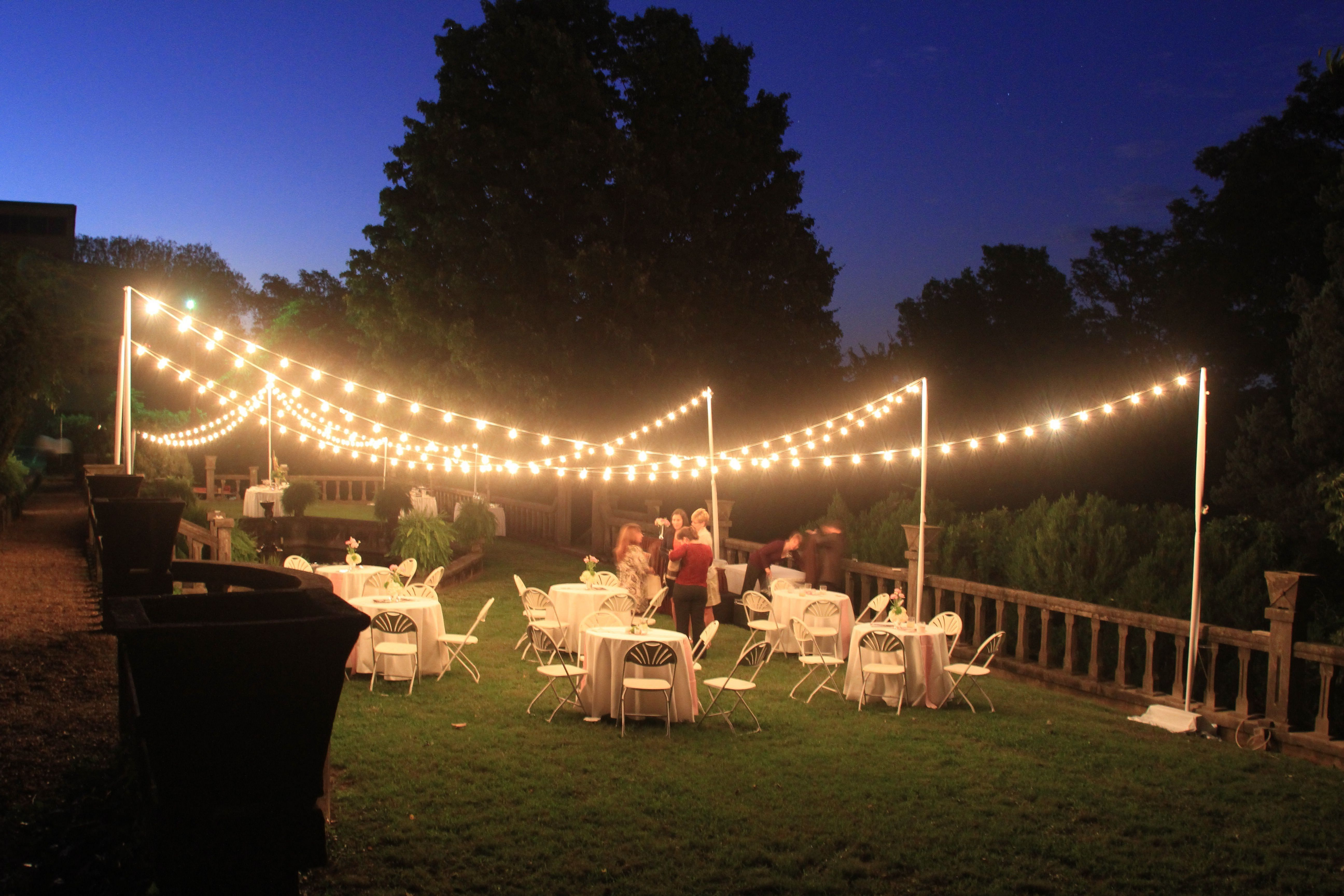 20 Gorgeous Outdoor Wedding Lighting Ideas That Inspired You Backyard Party Lighting Outdoor Party Lighting Diy Outdoor Lighting