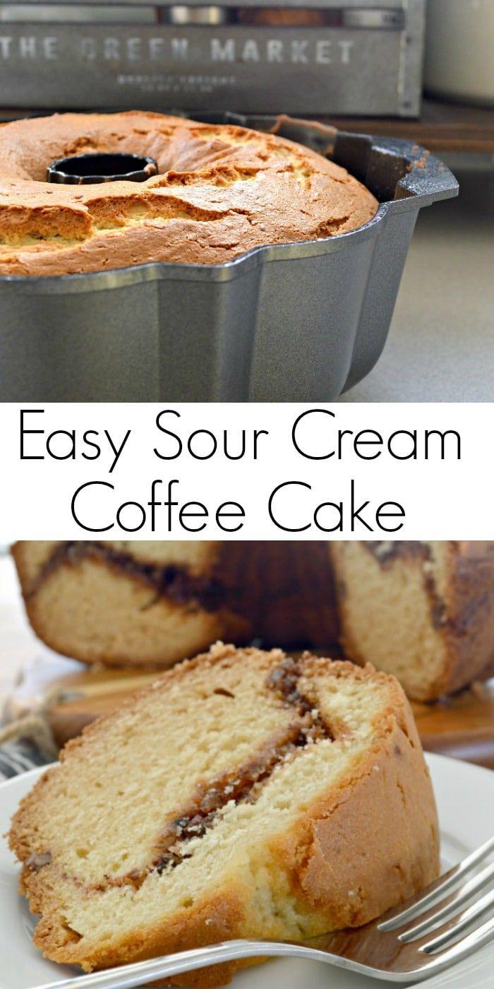 Easy Sour Cream Coffee Cake #sourcream