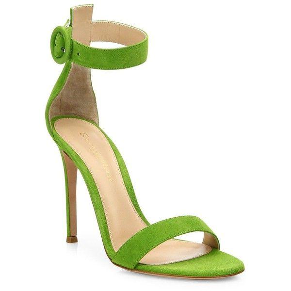 c1027bcf8d52 Open toe sandals · Gianvito Rossi Portofino Suede Ankle-Strap Sandals  (26