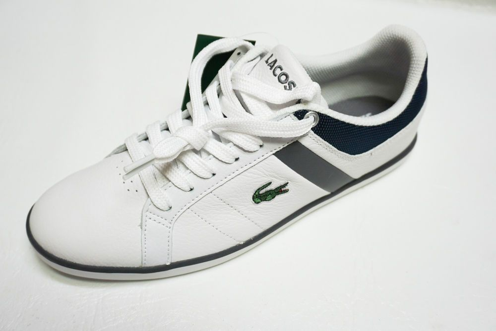 3d5c1449b652 Lacoste Sport mens 7-24SPM EVERSHOT PS SPM Croc white Leather sneakers 8 13  NEW  Lacoste  sneakers