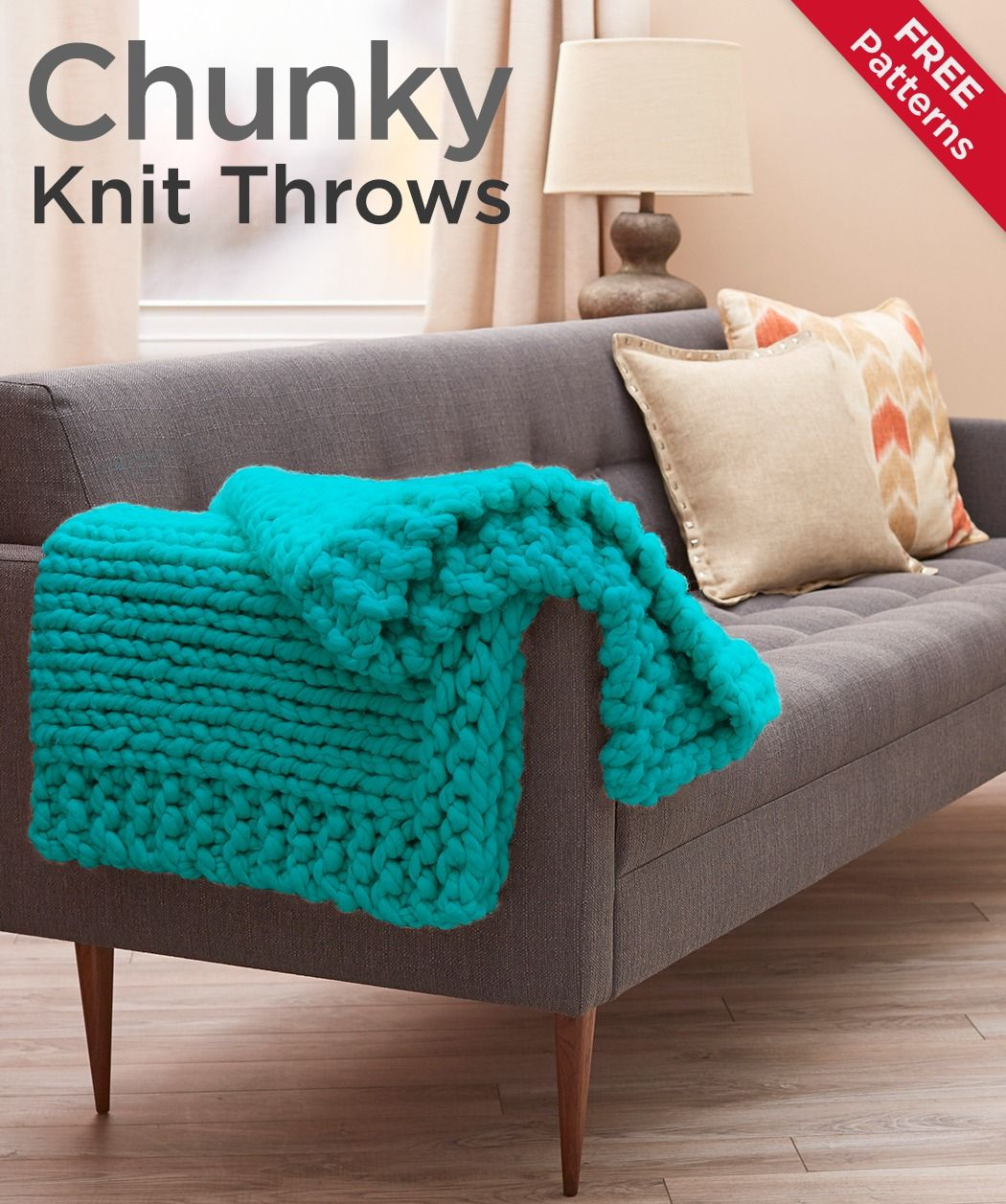 Knitting A Throw Blanket: Chunky Knit Throws Free Patterns -- Chunky Throws Are All