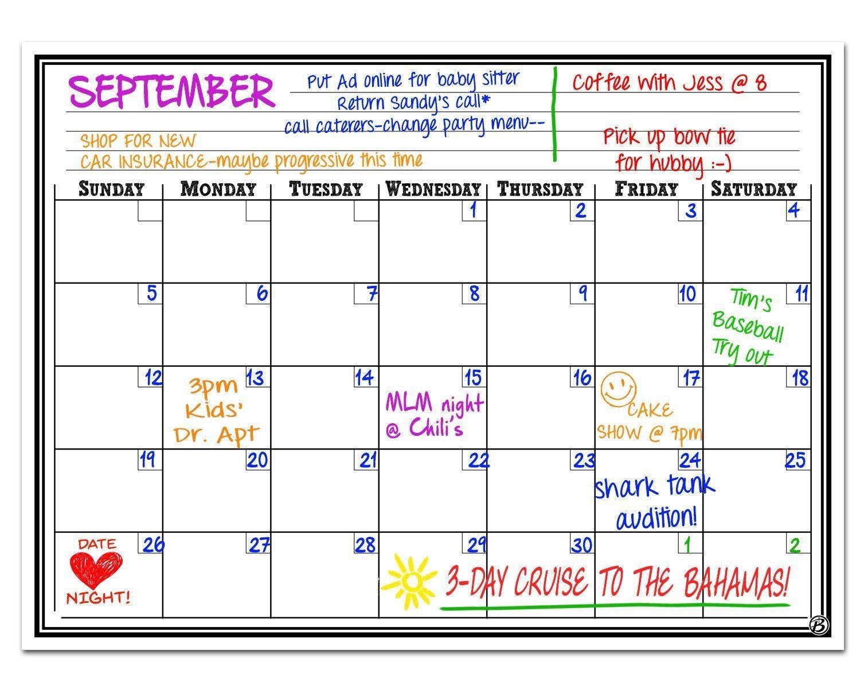 Magnetic Monthly Calendar For Refrigerator : Small magnetic refrigerator calendar