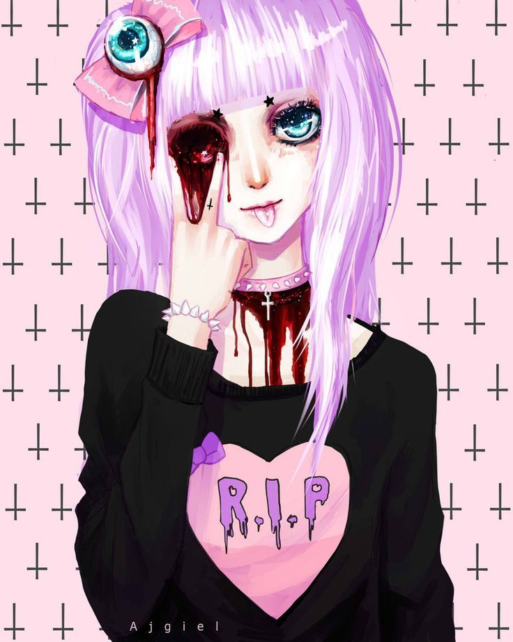girl Scary anime