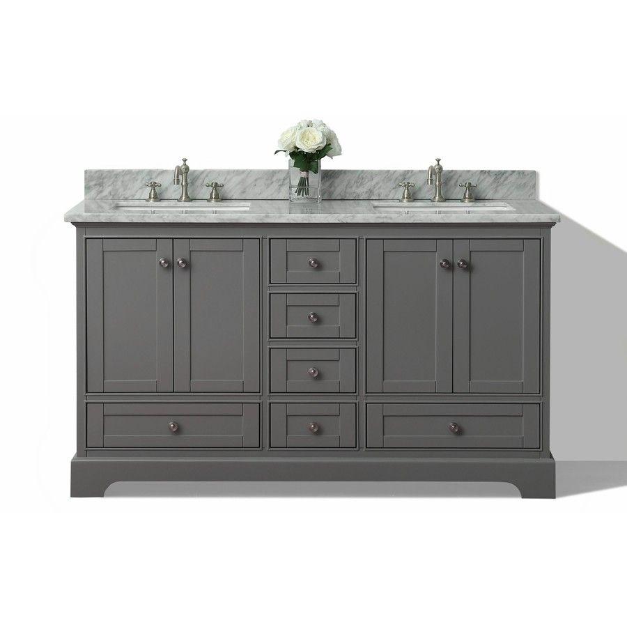 Birch Bathroom Vanities shop ancerre designs audrey sapphire gray undermount double sink