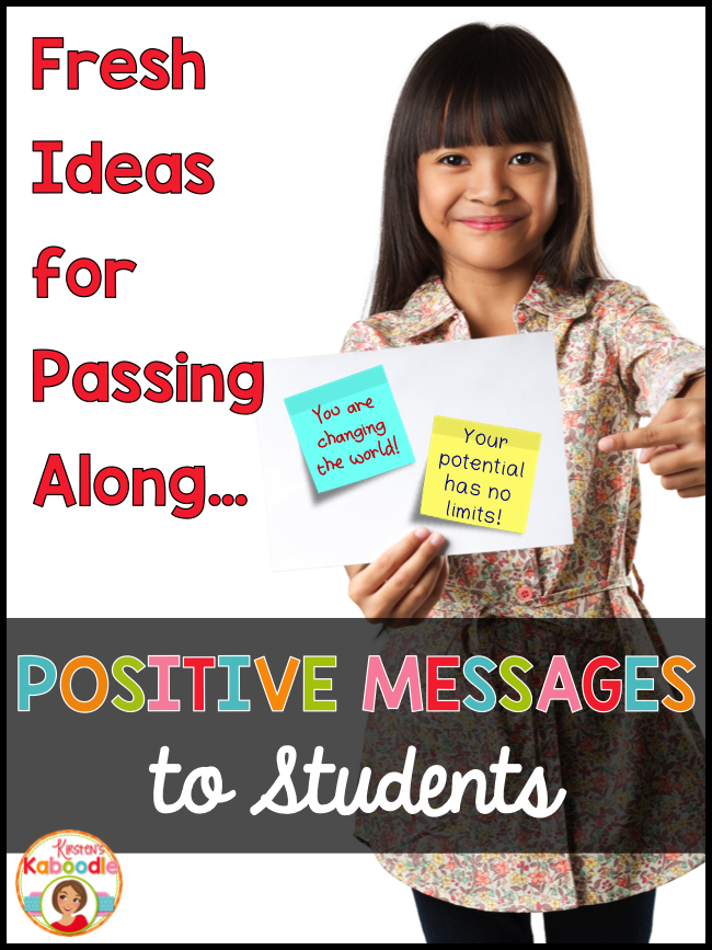 Are you looking for new and fun ways to inspire your students using positive messages? These sticky notes are a unique way to infuse inspiration and motivation in your classroom!