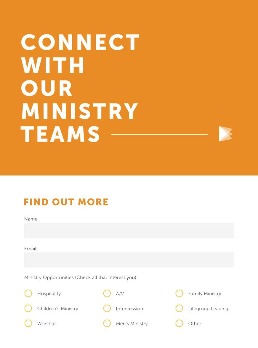 Almost Every Church Has A Church Connection Card Enjoy This List Of  Awesome Church Connection Cards And Feel Free To Use Them For Your Own Inspiration