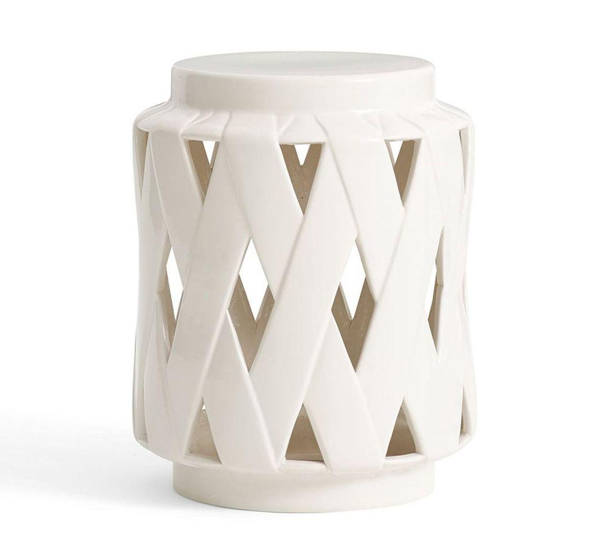 Merveilleux Lattice Ceramic Accent Table