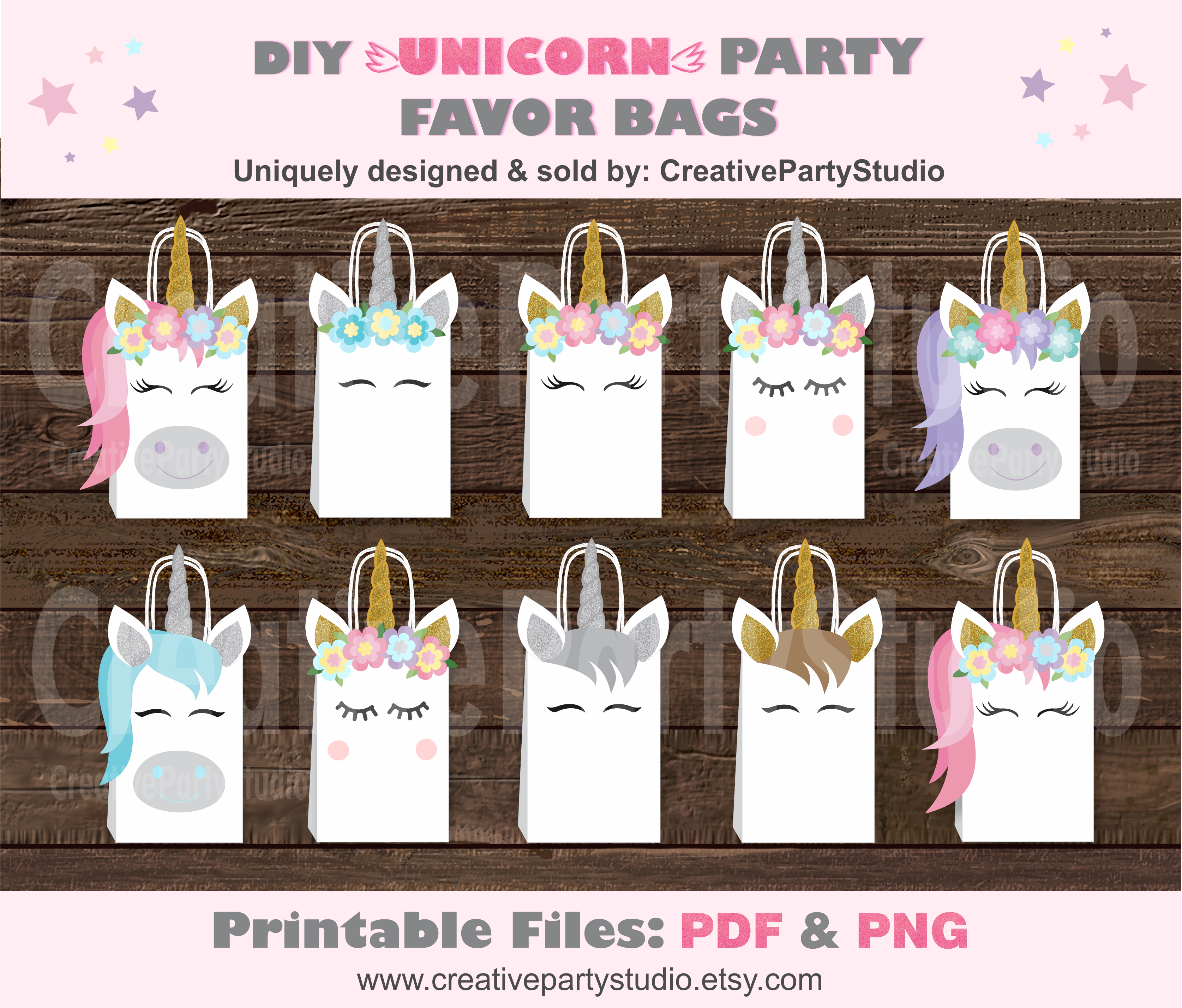 36 Unicorn Party Favor Bags for Kids Birthday Goody Bag Candy Treat Gold Design Unicorn Party Supplies Goodies Favors Decorations Gift Boutique
