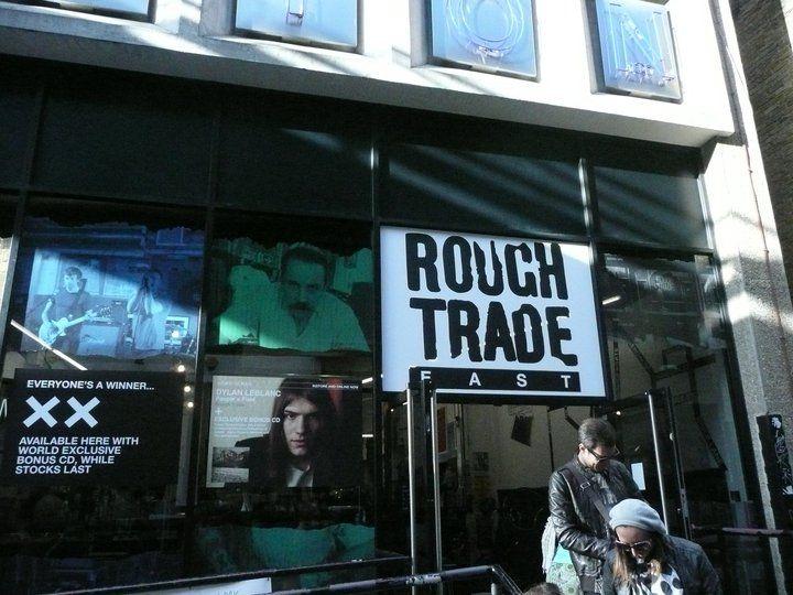 Rough Trade music shop in London / Brick lane