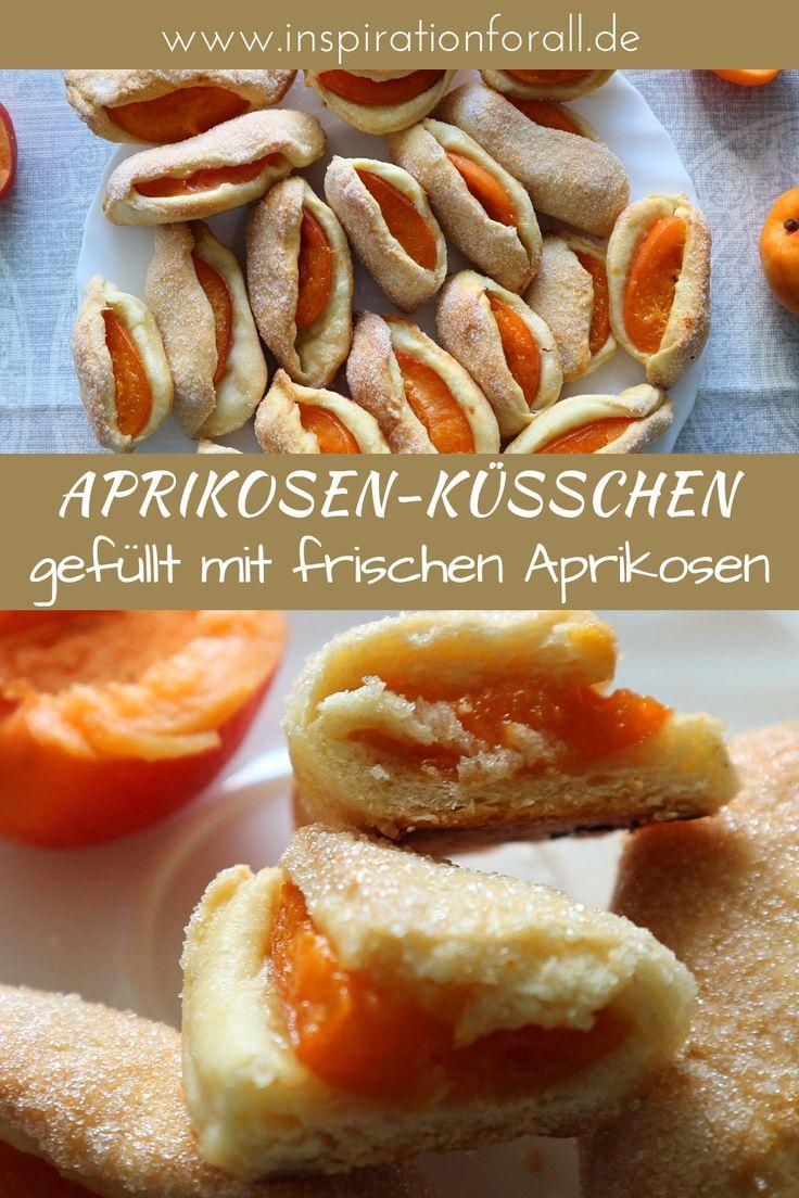 Aprikosen-Küsschen aus zartem Hefe-Mürbeteig – einfaches Rezept - Hefeteig, Pizzateig, Flammkuchen, Mürbeteig -