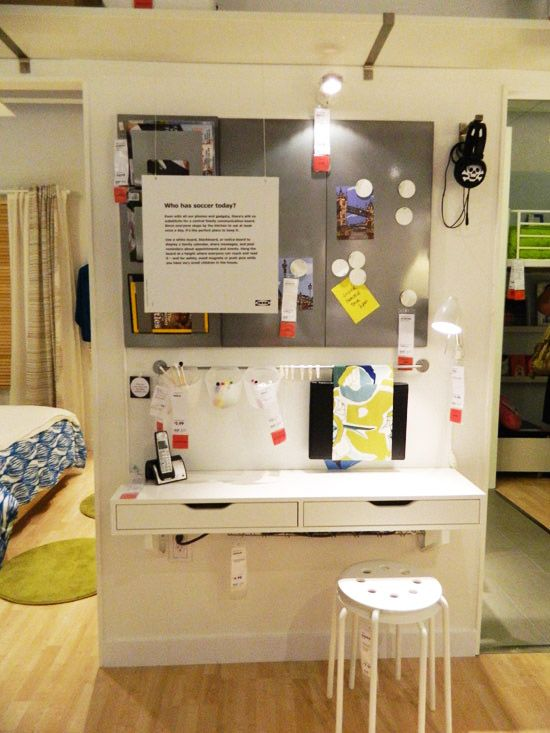 Organizing Ideas from IKEA I could imagine this as a kid workspace