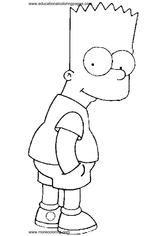 Die Simpsons 56 Ausmalbilder Cizimler Cizim Fikirleri