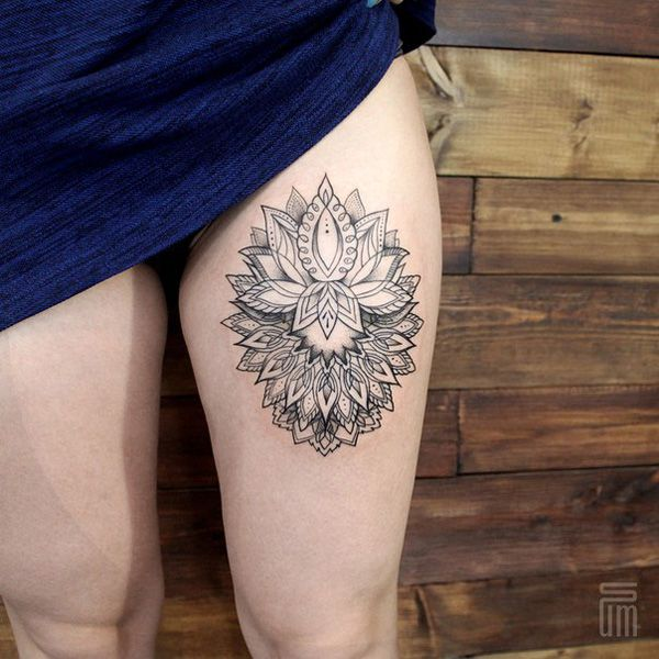 50 Mandala Tattoo Design Ideas | Thigh tattoos | Mandala ...