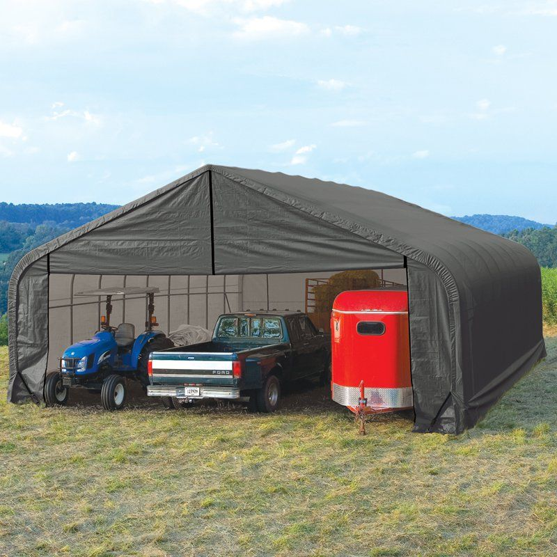 ShelterLogic 30 x 20 x 20 ft. Peak Frame Garage Shelter