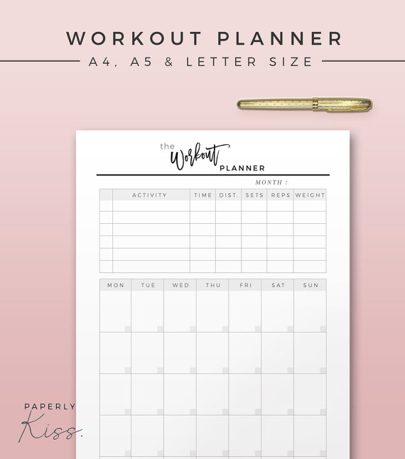 photo relating to Fitness Planner Printable referred to as Pin upon Pass up Fresh Booty