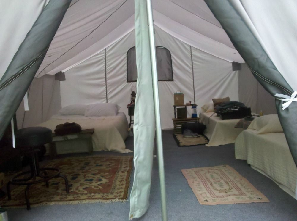Diy glamping in a regular tent google search for Glamping ideas diy