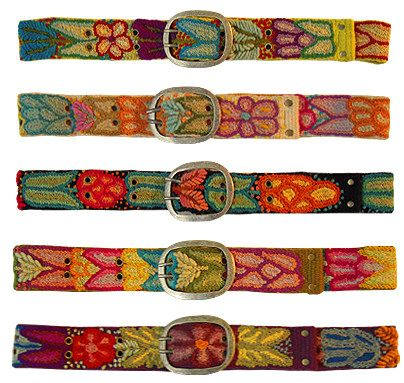 belts handmade in Peru - embroidery and needlepoint inspiration