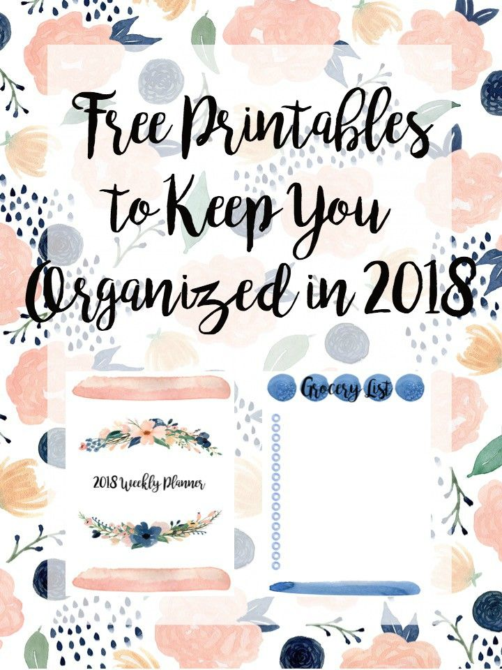 Free Printables to Keep You Organized in 2018 | Kalender, Filofaxing ...