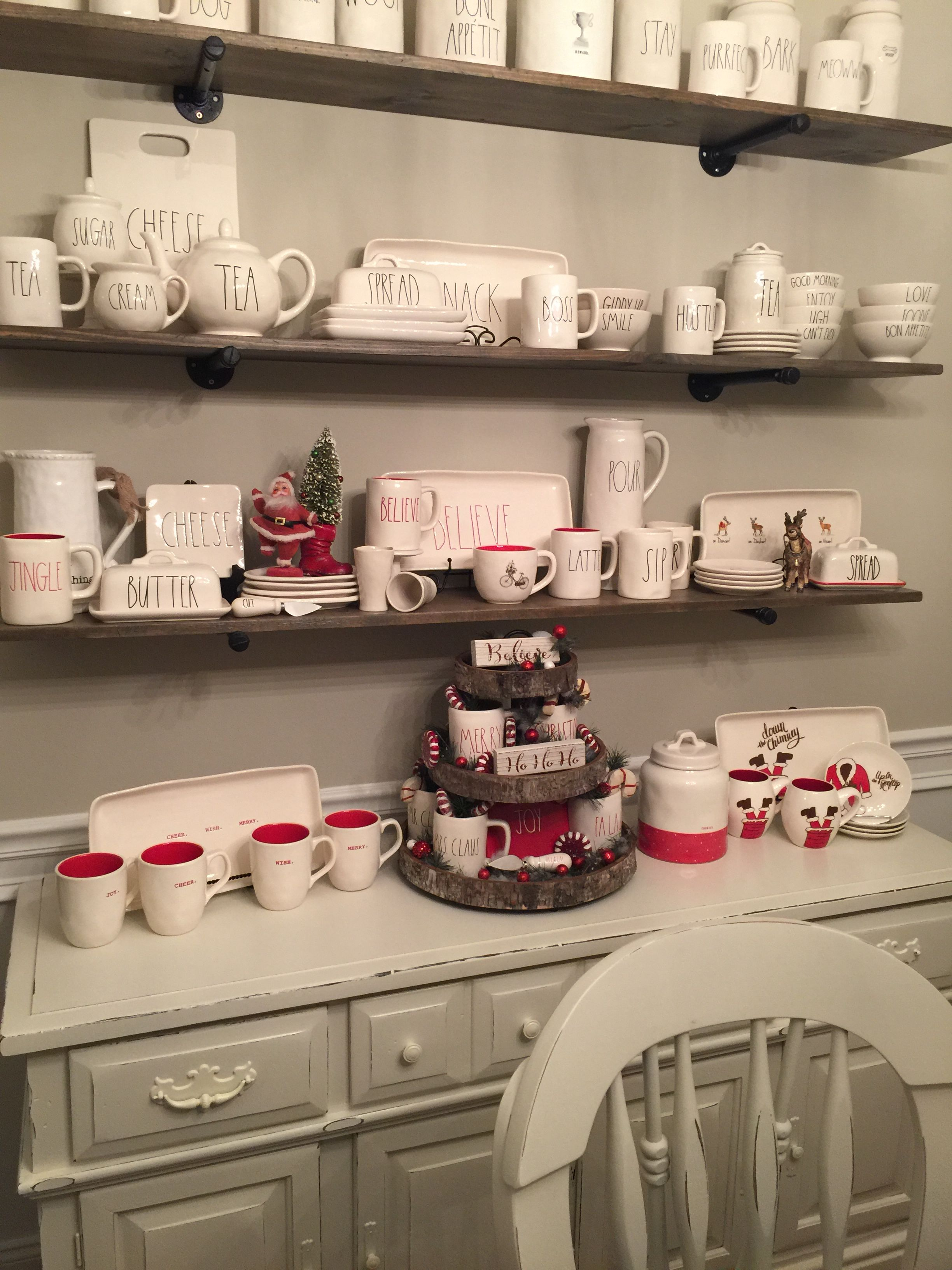 2017 Rae Dunn Christmas display | My Rae Dunn obsession ... Kitchen Coffee Display Ideas on regular kitchen ideas, cafe kitchen ideas, pineapple kitchen ideas, mint kitchen ideas, small kitchen ideas, tangerine kitchen ideas, california kitchen ideas, pewter kitchen ideas, strawberry kitchen ideas, mahogany kitchen ideas, starbucks kitchen ideas, light blue kitchen ideas, dry kitchen ideas, seafoam kitchen ideas, coffee themed kitchen, cookware kitchen ideas, wine kitchen ideas, top ten kitchen ideas, olive kitchen ideas, rust kitchen ideas,