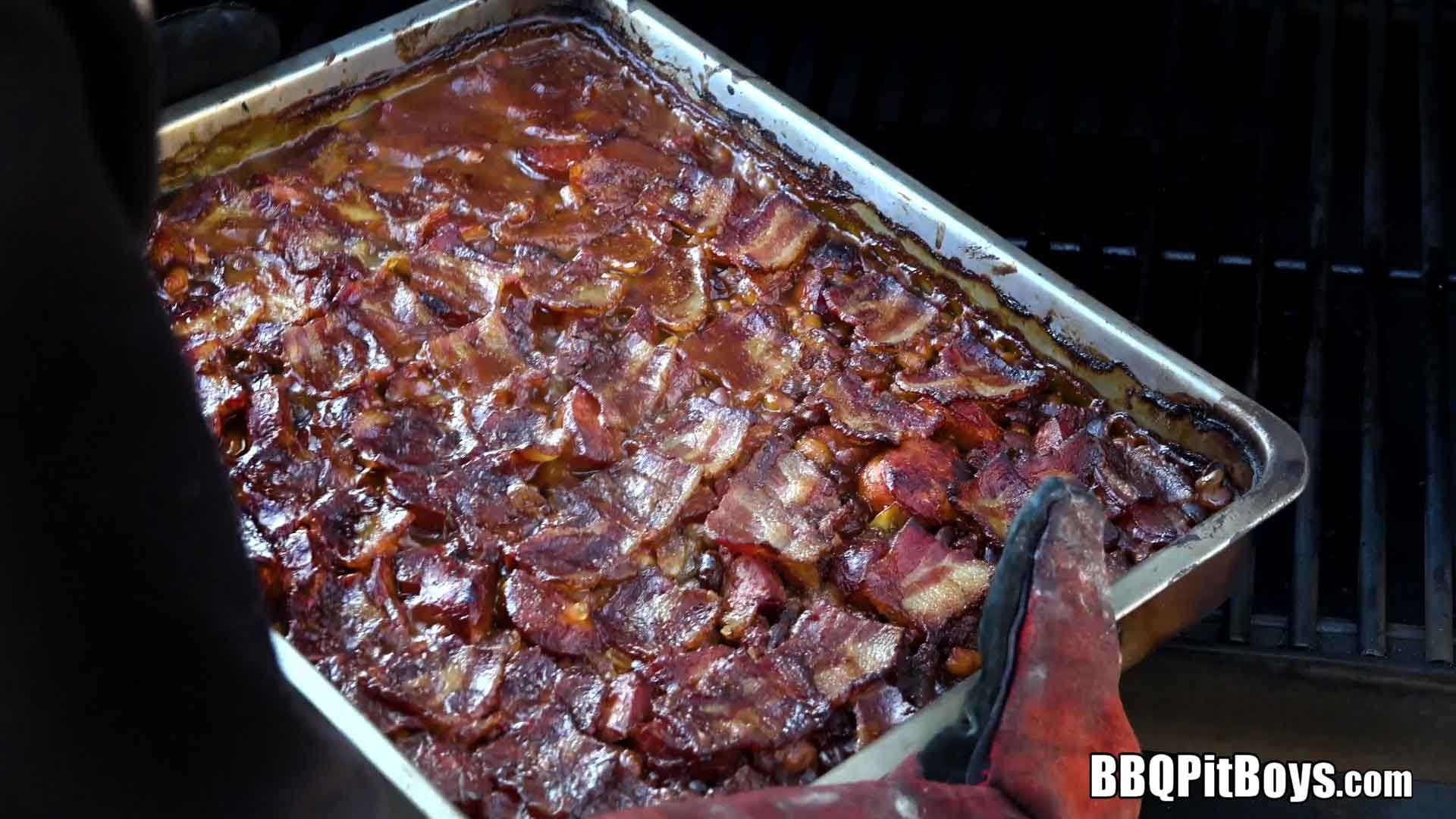 BBQ Bacon Baked Beans | Smoked food | Bbq baked beans, Baked beans