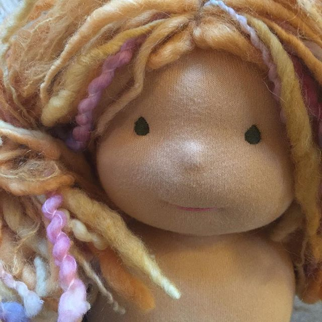 Love this light ginger color hair. She totally needs freckles ....