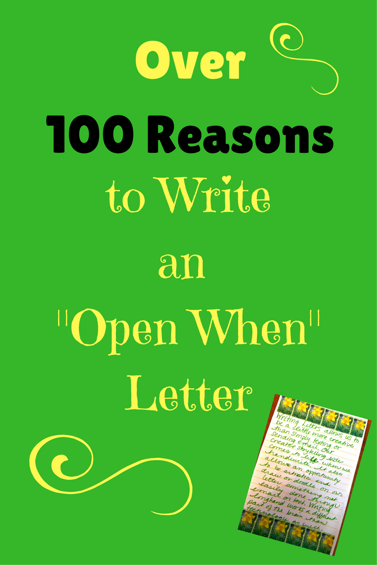 """Over 100 Reasons to Write an """"Open When"""" Letter The"""