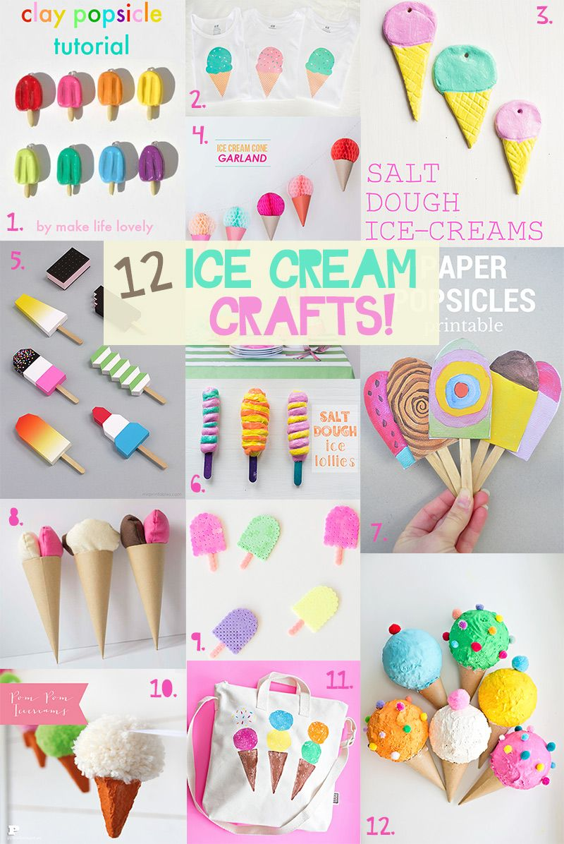 Summer Crafts 12 Fun And Colorful Ice Cream Ideas Toddler