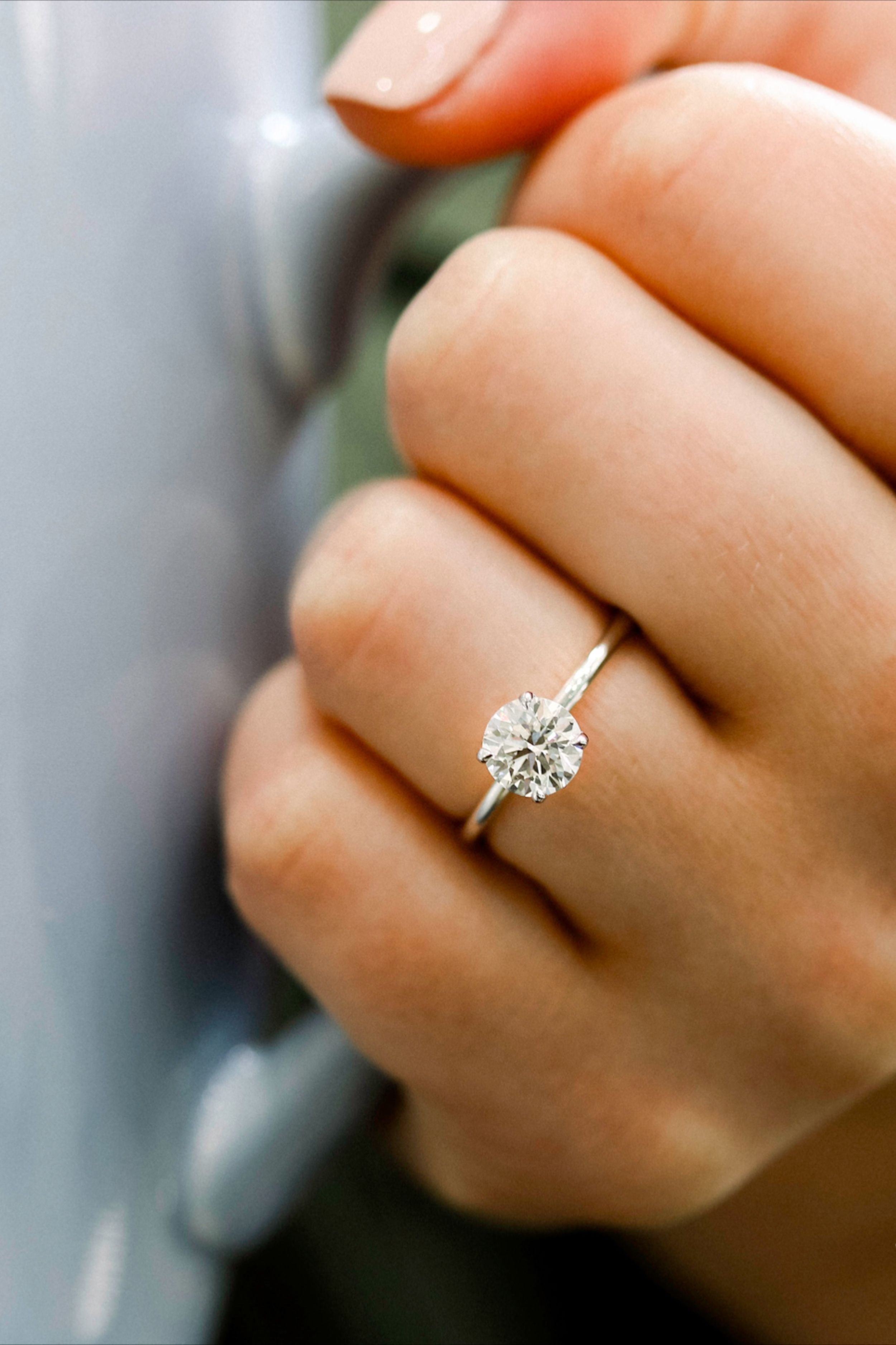 1.0 Ct Lab Diamond Round Solitaire Prong Set Engagement Wedding Ring Solid 14k Rose Gold Rings Promise Promise Promise Rings