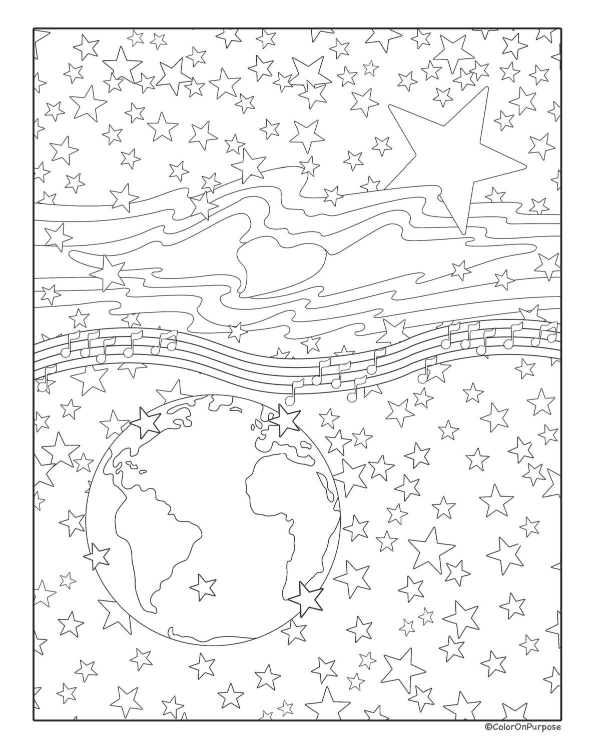 Printable adult coloring page digital download ucguiding starud a