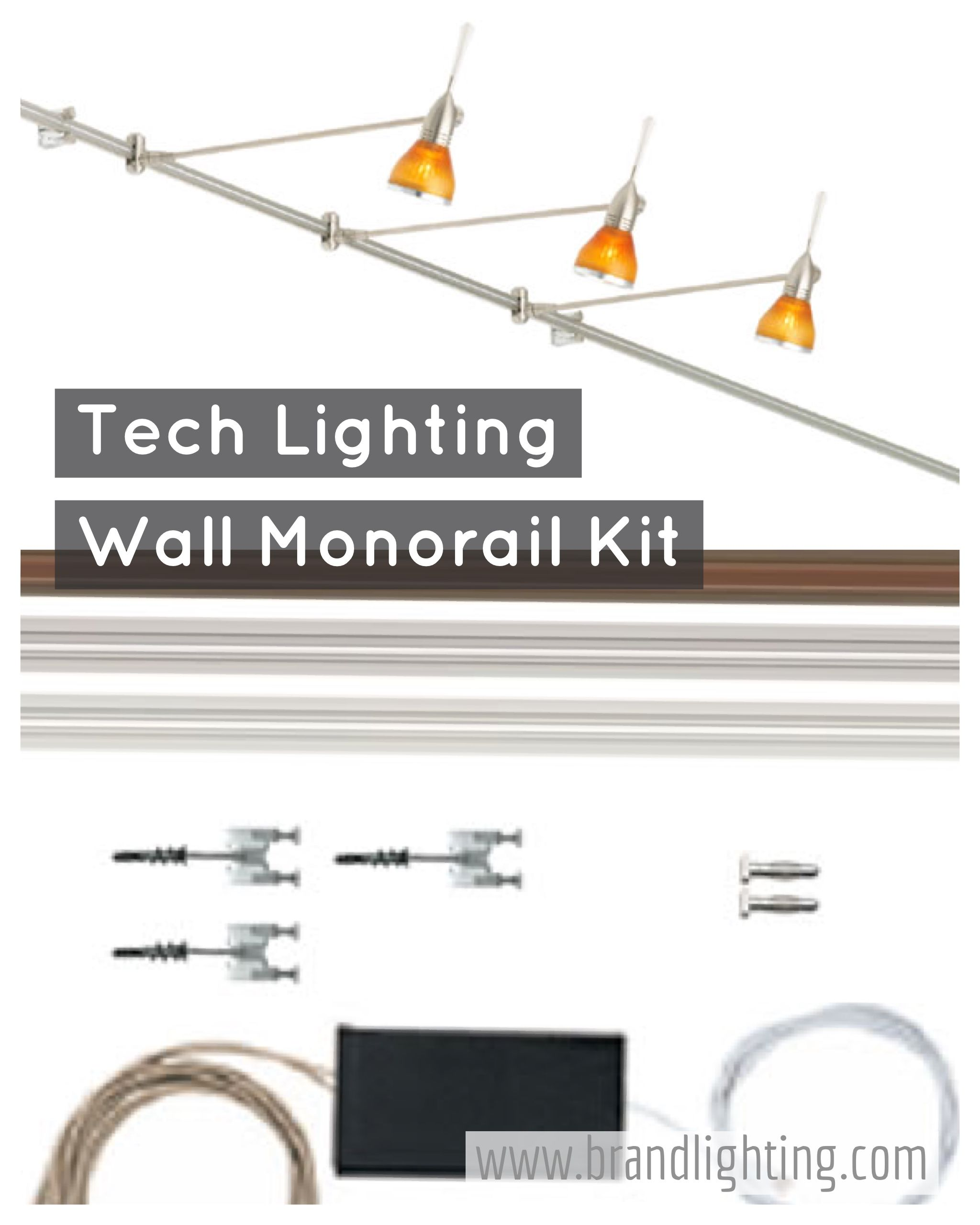 Tech Lighting Wall Monorail Kit for picture lighting  sc 1 st  Pinterest & Tech Lighting Wall Monorail Kit for picture lighting | Picture ... azcodes.com