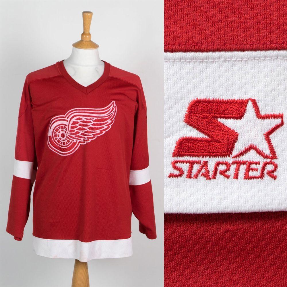 Vintage Detroit Red Wings Jersey Ice Hockey Shirt Starter 2pac Usa Sports Nhl Xl Fashion Clothing Shoes Accessories Hockey Shirts Detroit Red Wings Shirts