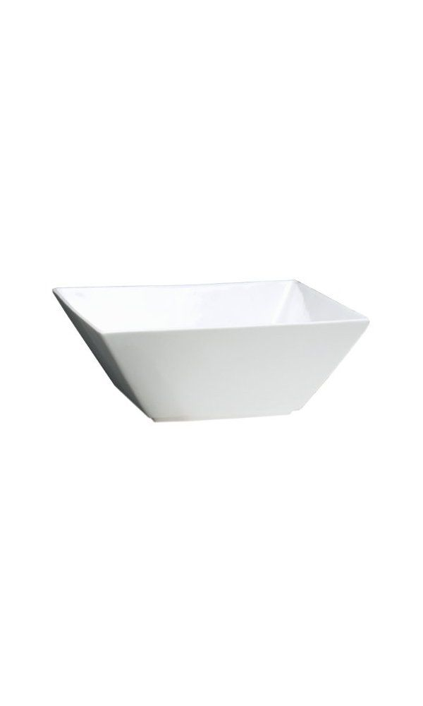 Fortessa Fortaluxe Superwhite Vitrified China Dinnerware Plaza 5 75 Inch Deep Square Bowls Set