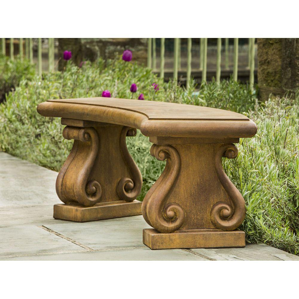 Awesome Kinsey Garden Decor Fontenay Cast Stone Outdoor Bench Theyellowbook Wood Chair Design Ideas Theyellowbookinfo