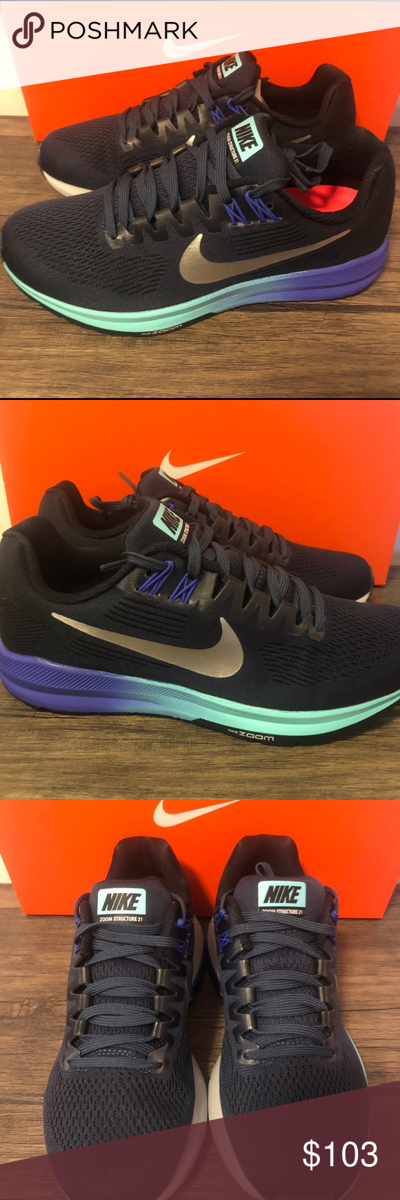 209fcbcc92f Women s Nike Air Zoom Structure 21 Stability Women s Nike Air Zoom  Structure 21 Stability running shoe 904701-401 New in box Size 7 Nike Shoes  Athletic ...