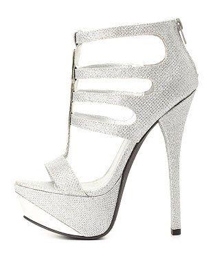 7b251a6299 Qupid Glitter Mesh Platform Heels: Charlotte Russe   Shoe Game ...