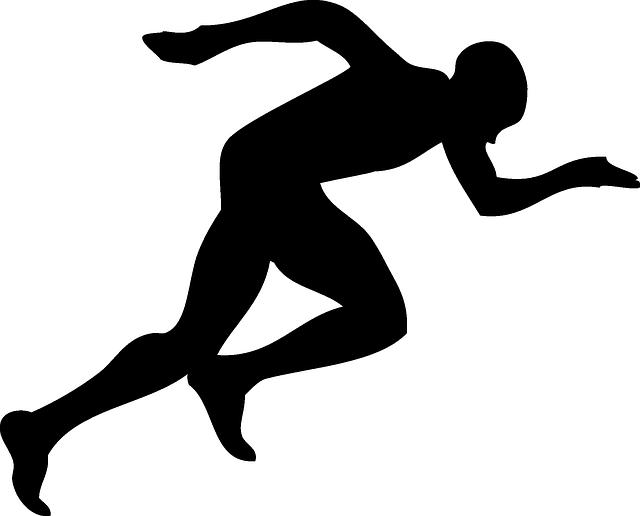 Imagen gratis en pixabay corredor atleta sprint for Corredor deco blanco y negro