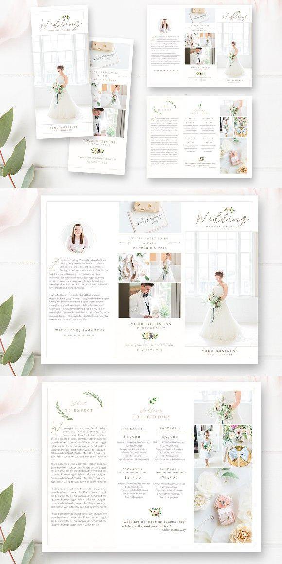 Photography Trifold Brochure Photography Brochure Brochure Design Layout Wedding Brochure