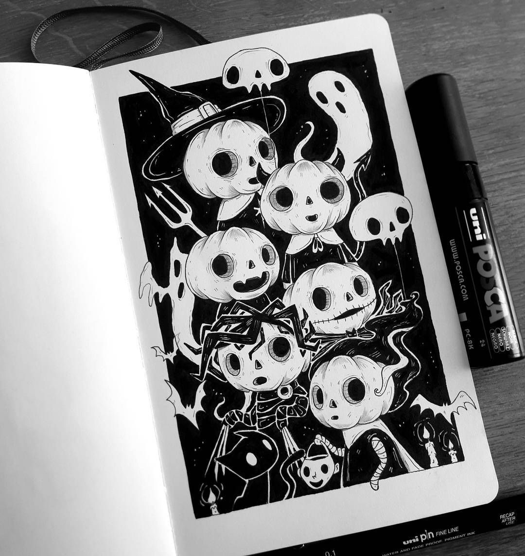 Keep A Sketchbook And Have Fun Halloween drawings