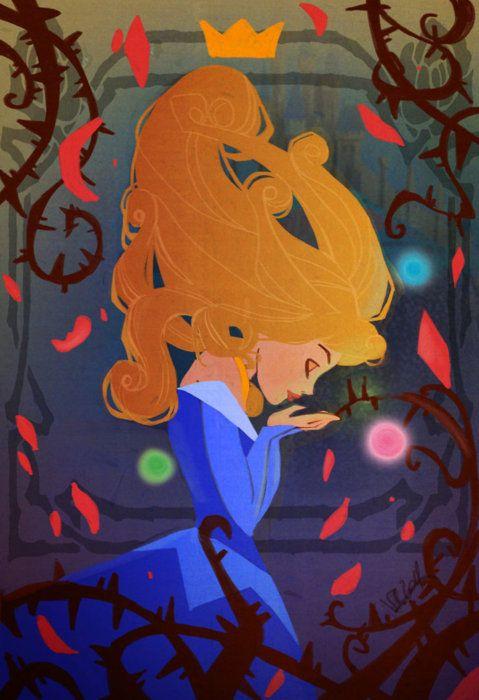 SleepINg Beauty - color - by *VPdessin (Aurora / Sleeping Beauty)