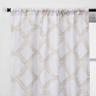 Linen Light Filtering Curtain Panels Threshold Linen Curtain