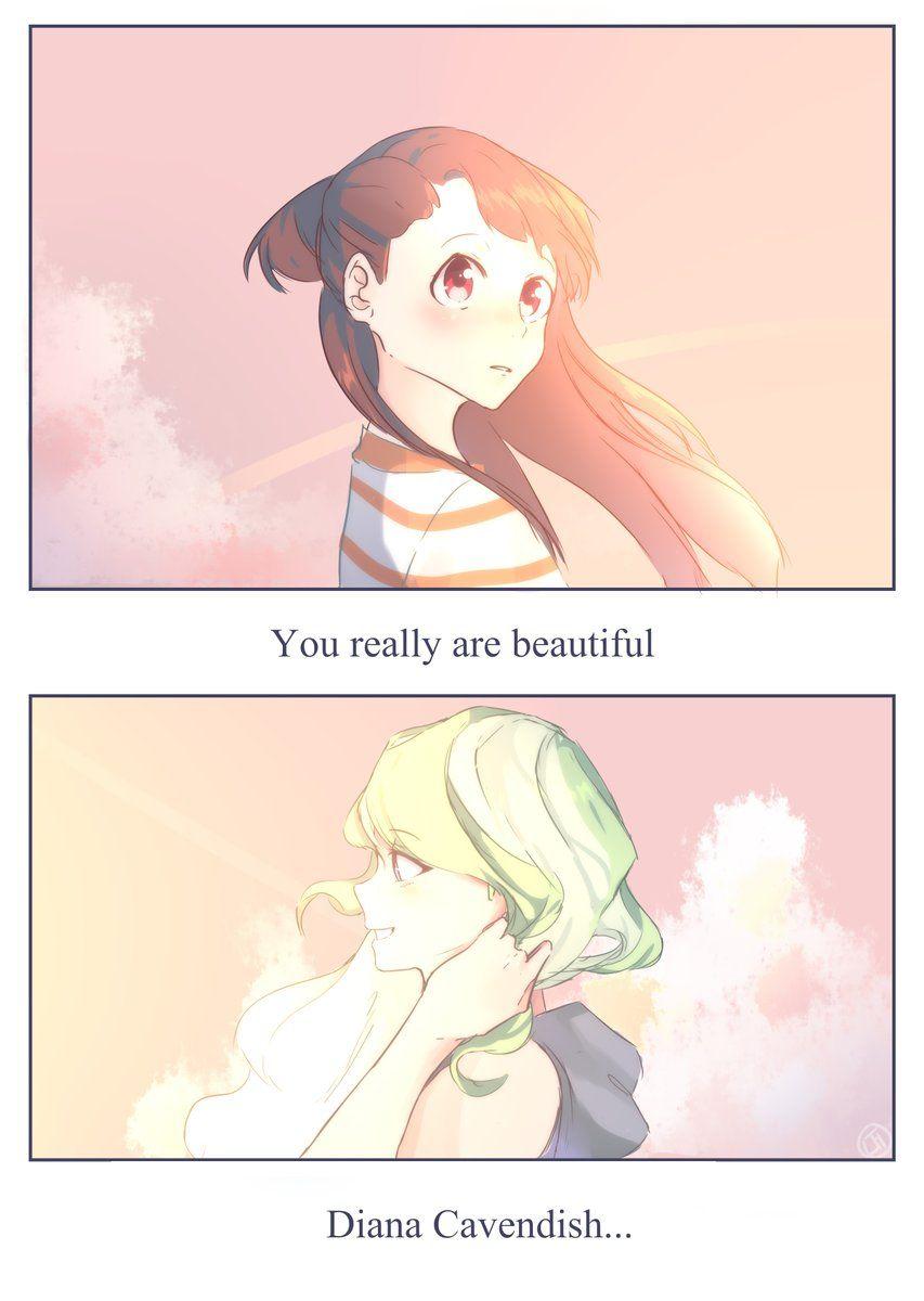 Anime Cute Lesbians diana is beautiful | anime, yuri anime, little witch academy